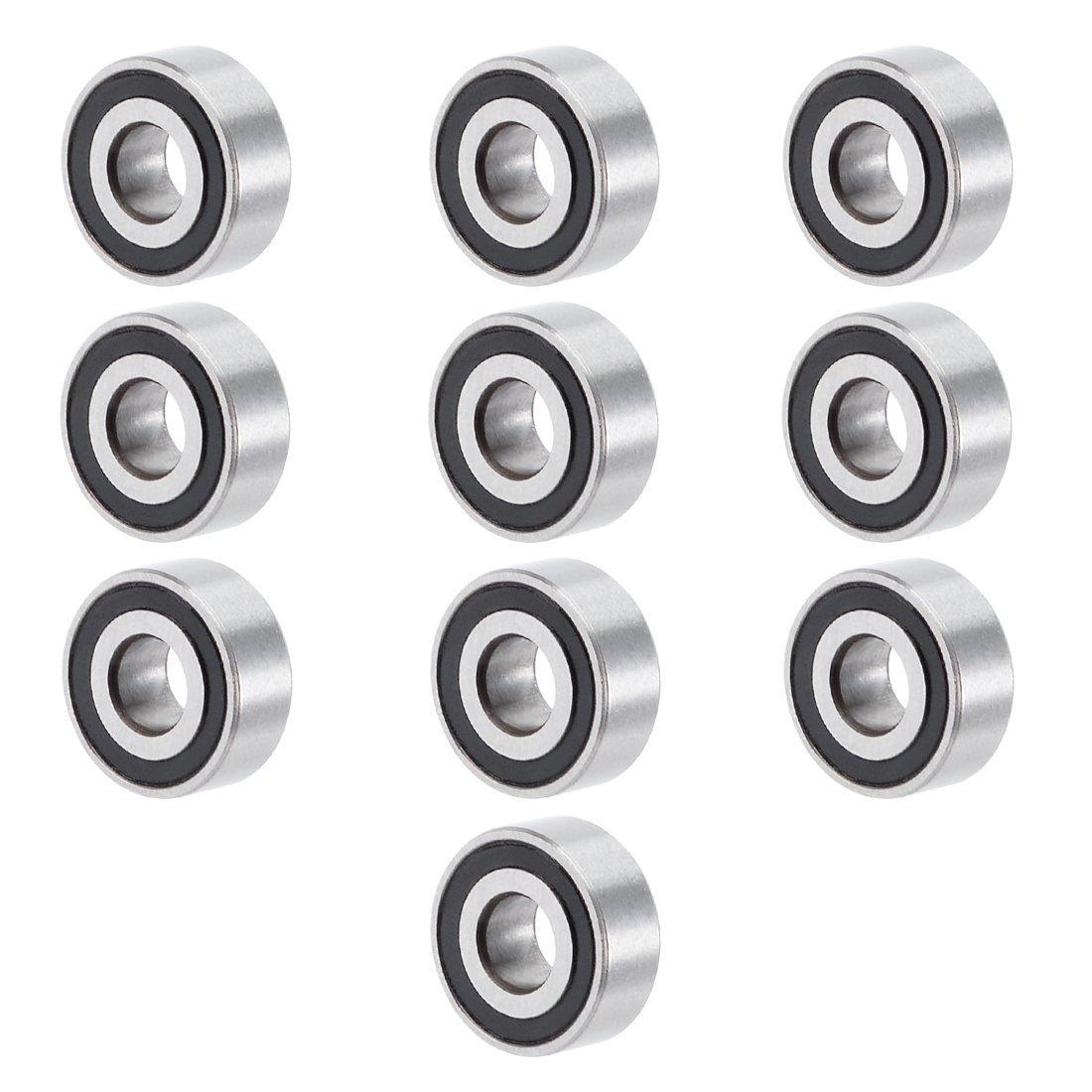 uxcell 629ZZ 9mmx26mmx8mm Double Shielded Miniature Deep Groove Ball Bearing 10pcs