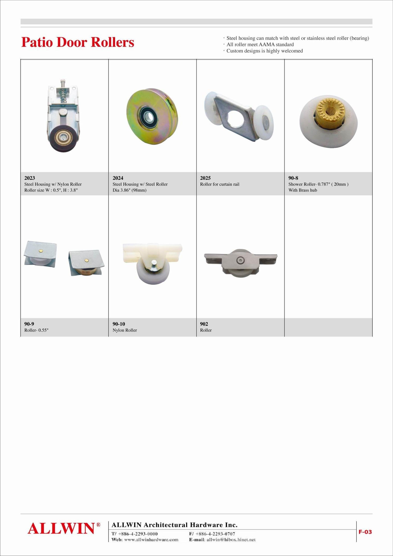 Nylon Window Wheel Roller Bearing