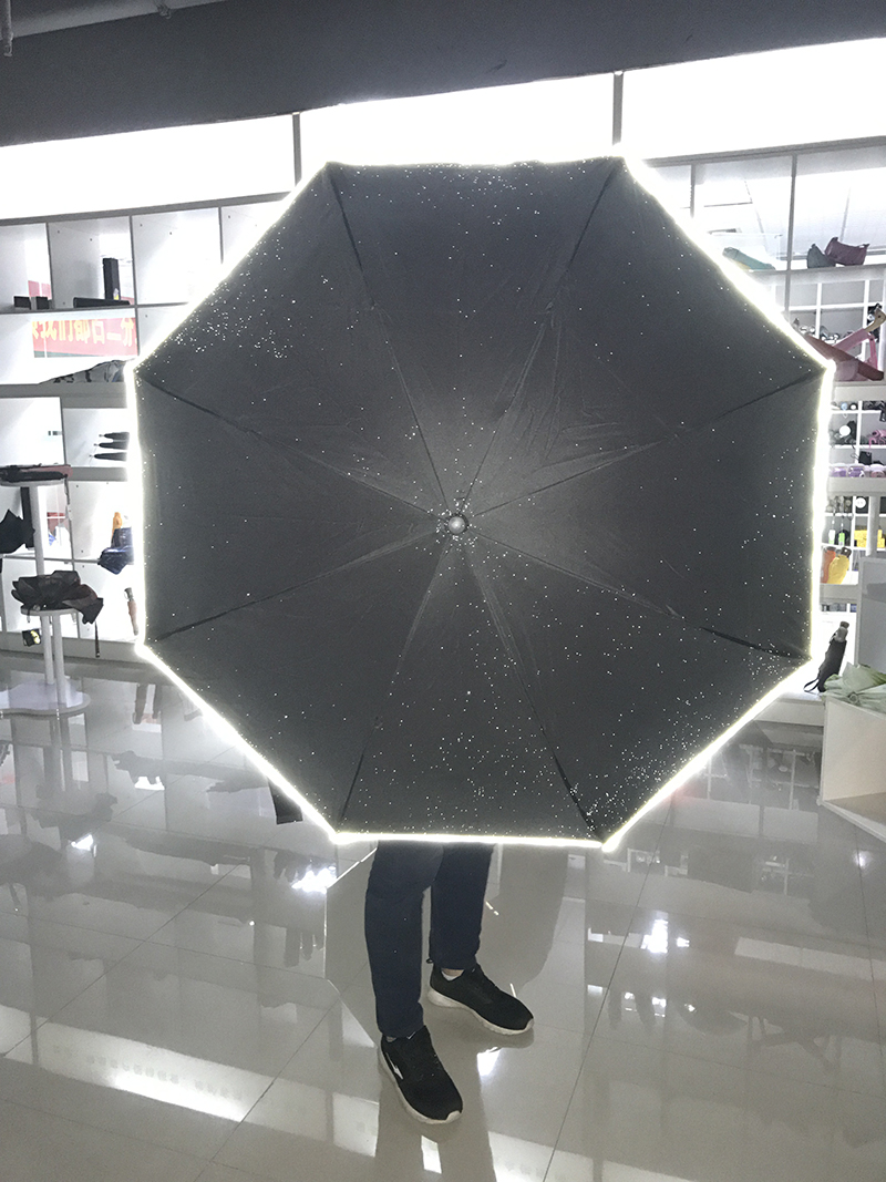 design custom led light upside down double layer inverted umbrella with lights