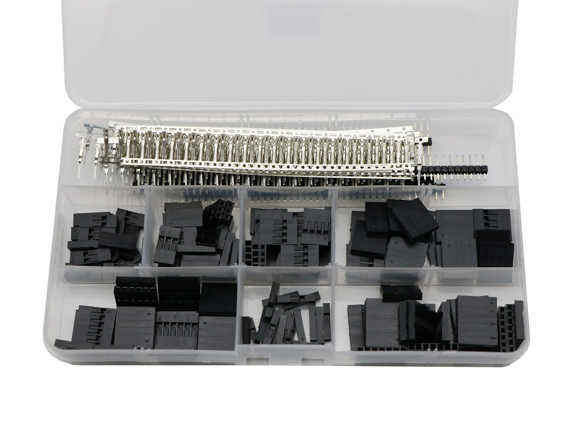 430 pcs 40 Pin 2.54mm Pitch Single Row Pin Headers,Dupont Connector Housing Female and Dupont Male Female Pin Connector Kit