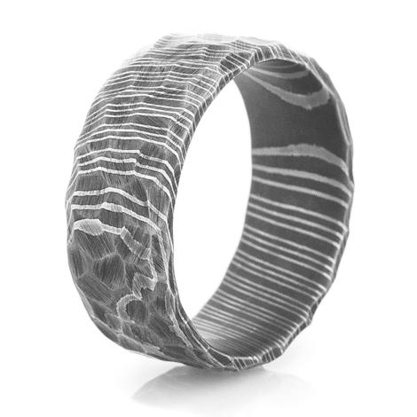 3e3073bfa15ab Men's Rock-style Acid Finish Custom Made Damascus Steel Ring(zr85) - Buy  Damascus Ring,Ring,Custom Stainless Steel Rings Product on Alibaba.com
