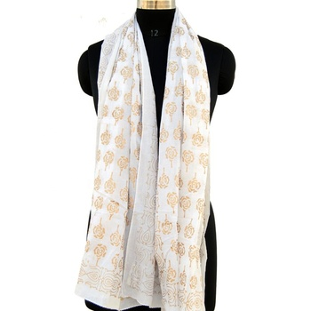 Floral printed wholesale cotton long scarf summer wear pareo scarves