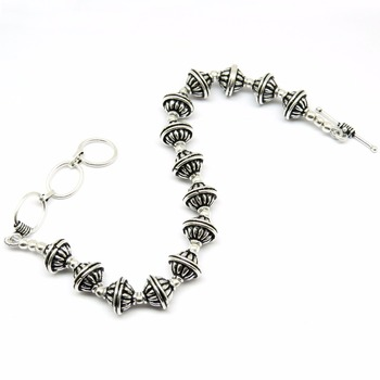 Elegant Oxidized Plain Silver 925 Sterling Silver Toggle Clasp Beads