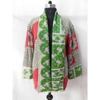 Women wear handmade kantha stitched ladies coat designer sexy winter wear girls jacket