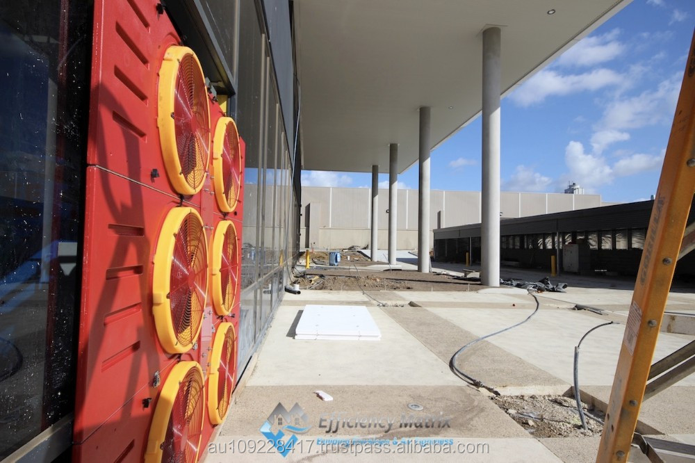 Whole Building Large Commercial Blower Door Testing Service