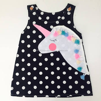 Polka Dot Unicorn Dress For Baby And Toddler Girls 0 7y