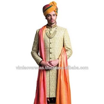Sherwani Veste Indien Hommes Western Mariage De Bollywood Indo Robe wXUUqxBA