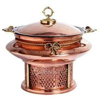 food warmer chaffing dish/Indian brass chafing dish/copper chafing dish