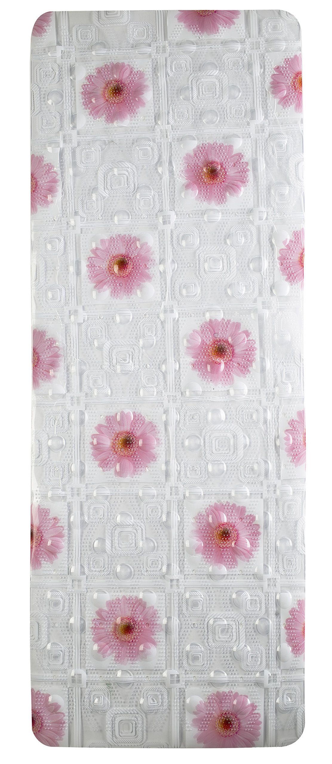 Get Quotations Flower Textured Surface Dots Bath Mat Extra Long Anti Slip Tub Bacterial
