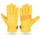 NEW CHEAP PRICE LEATHER WORKING GLOVES/ LEATHER DRIVER GLOVES/ YELLOW LEATHER SAFETY GLOVES