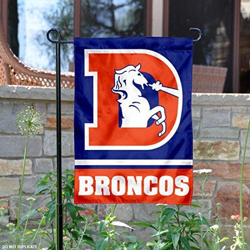 Ordinaire Get Quotations · Denver Broncos Throwback Logo Double Sided Garden Flag