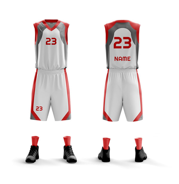 Benutzerdefinierte hohe Qualität Basketball Uniform neuer Entwurf Dry Fit Sublimation / Flexy / Stickerei Korb Uniform
