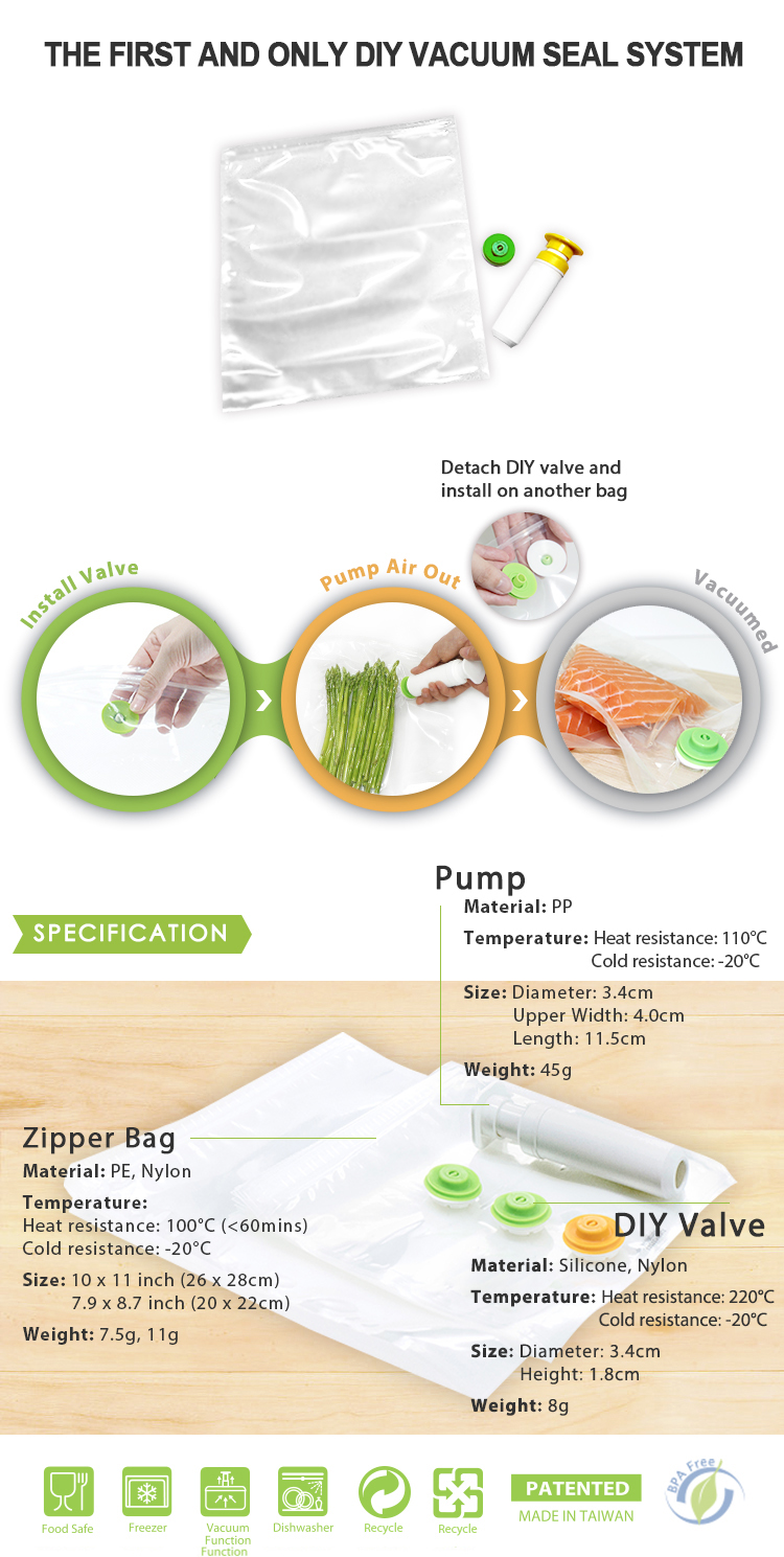 Vacuum Food Packaging Bag Sous Vide Container