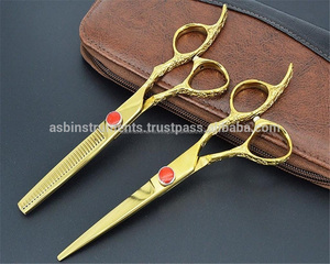 New 2018 Barber Gold plated Dragon handle professional hair cutting scissors / Professional barber scissor