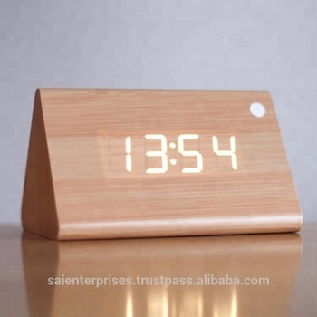 Customized Wooden Led Digital Alarm Clock