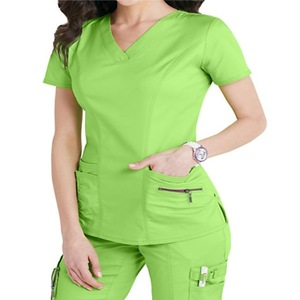 65%,35% Polyester Cotton Medical Scrubs/Hospital Nurse Uniforms.
