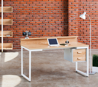 *Design/modern, home/office furniture, wooden metal square frame desk full set