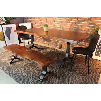 acacia wood live edge straight cut dining table buy solid acacia rh alibaba com live edge dining table for sale uk live edge oak dining table for sale
