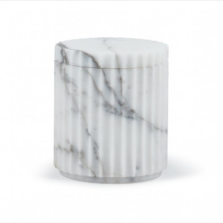 Hot sale polyresin marble effect hotel bathroom accessories amenity tray