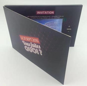 High End Video Business Card 2.8/4.3/5/7/9/10inch LCD Screen Customized Video Brochure Mailer