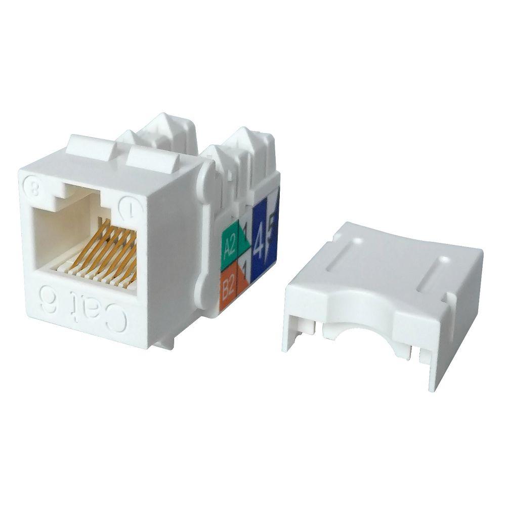 1Pc CAT6 Network Module RJ45 Connector Coupler Ethernet Keystone JaES