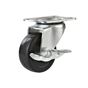 round swivel folding table caster and steel table rubber casters