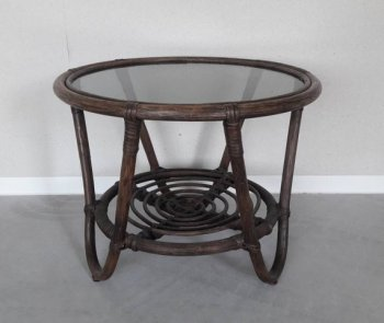 Vintage Rattan Coffee Table Side table