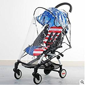 Motina Universal Baby Rain Cover Rain & Wind Shield Transparent Baby Stroller Cover Fit Most Umbrella Strollers Pushchairs