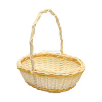 Rattan gift basket made in Vietnam fruit container flower basket for wedding