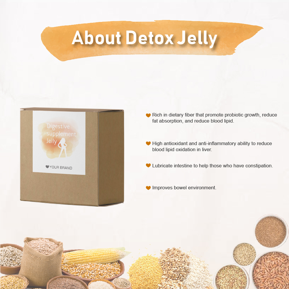 Detox Fiber Weight Loss Slimming Supplement Jelly