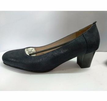 311832d10a8 LADIES COMFORTABLE BLOCK LOW HEEL BLACK DRESS COURT SHOES ON TPR SOLE