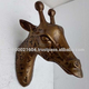 Large Giraffe Head Antique Gold