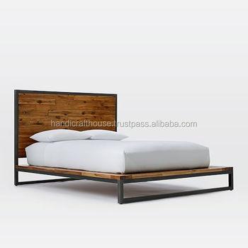 Industrielle Vintage Eisen Metall Und Holz Indischen Konig Grosse Bett Buy Schmiedeeisen Und Holz Bett Konig Grosse Schmiedeeisen Betten Konig Grosse