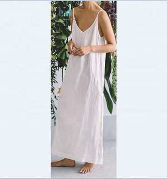 Milky White Linen Dress Summer Dress Minimal Women Clothes Simple Linen  Dress - Buy Linen Dresses,Linen Wedding Dress,Plus Size Long Sleeve Linen  ...