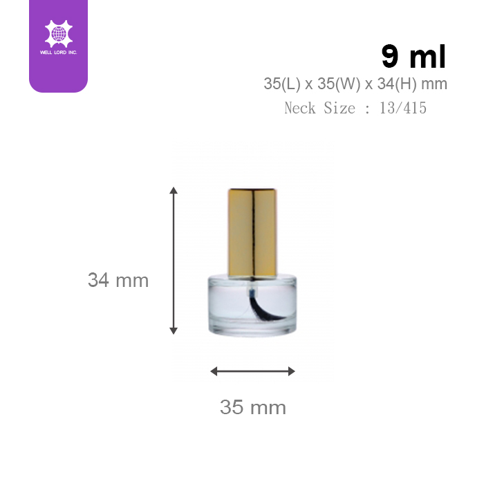 Unmissable hot adorable product gold cap 9ml nail polish bottle