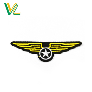 Tailor Made Unique Pilot Wings Embroidery Iron On Embroidered Badge For Jeans
