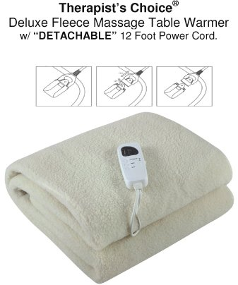 Get Quotations · Therapist s Choice Deluxe Fleece Massage Table Warmer 57b00b6d7