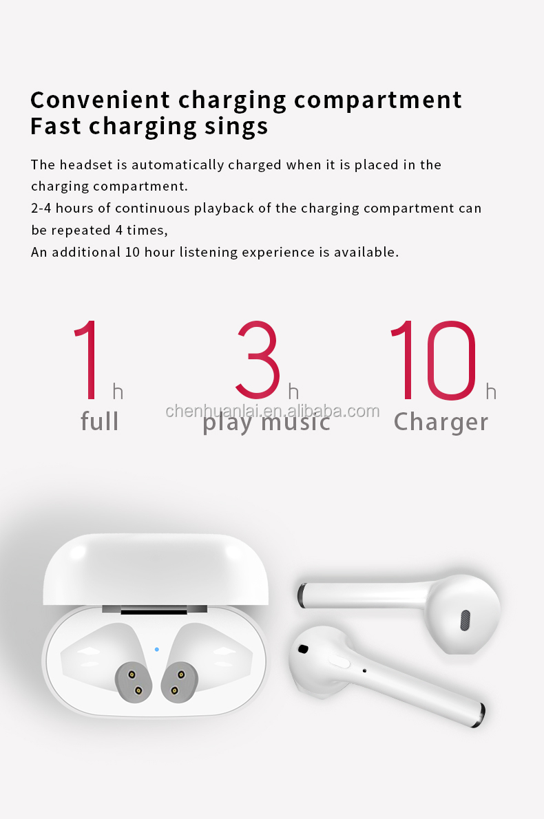 Factory whole selling 2019 newest Wireless touch dual side I10 tws i10 max wireless earphone BT 5.0 stable stereo headset