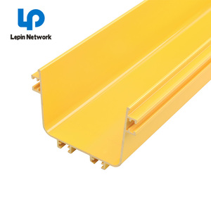 Yellow cable tray fiber raceway system data IT solution