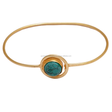 Vert Web <span class=keywords><strong>Turquoise</strong></span> Plaqué Or Bracelet <span class=keywords><strong>En</strong></span> <span class=keywords><strong>Argent</strong></span> <span class=keywords><strong>Sterling</strong></span>