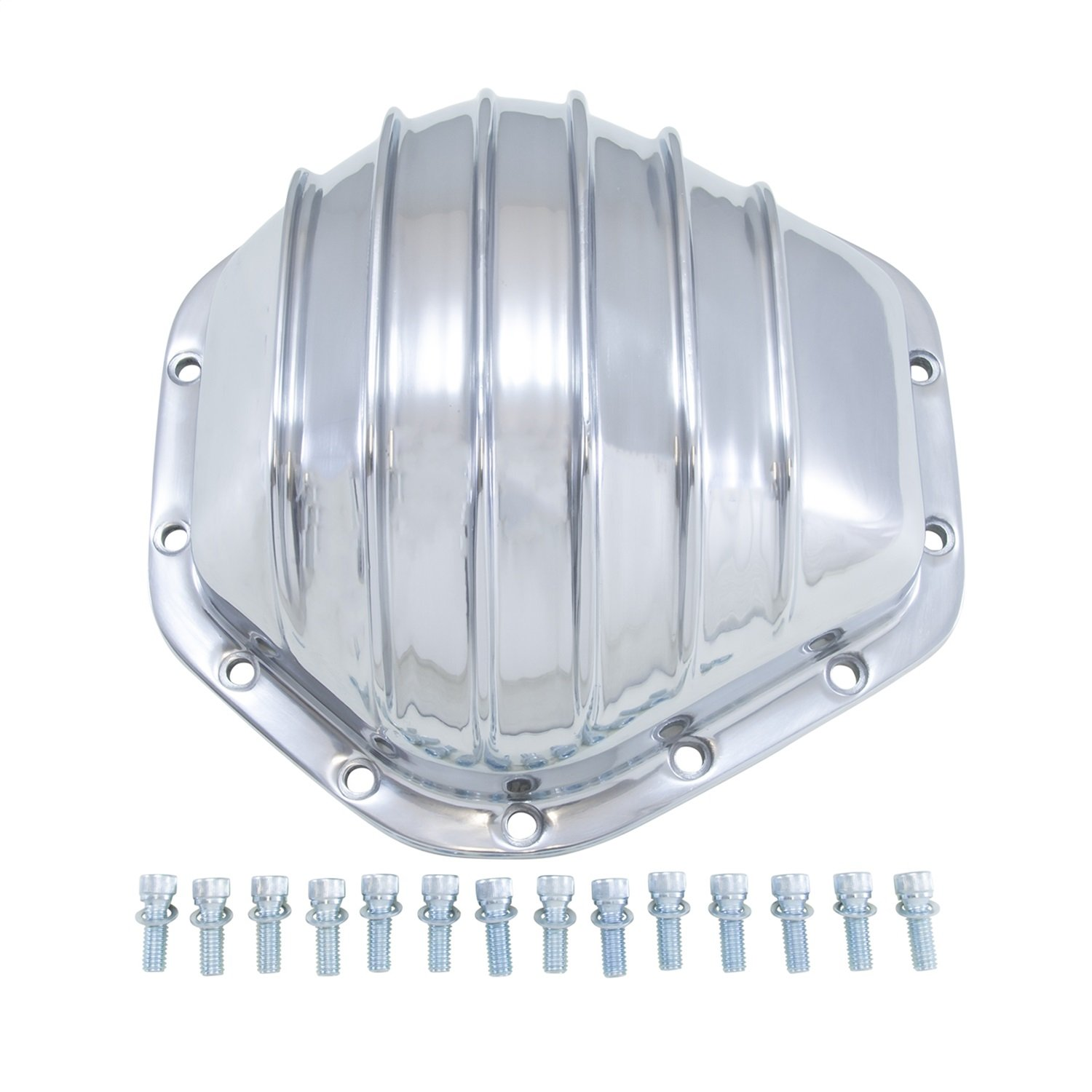 """Yukon (YP C2-GM14T) Polished Aluminum Cover for GM 14-Bolt Truck 10.5"""" Differential"""