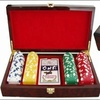 Custom High Quality Wooden Poker Chip Box Set