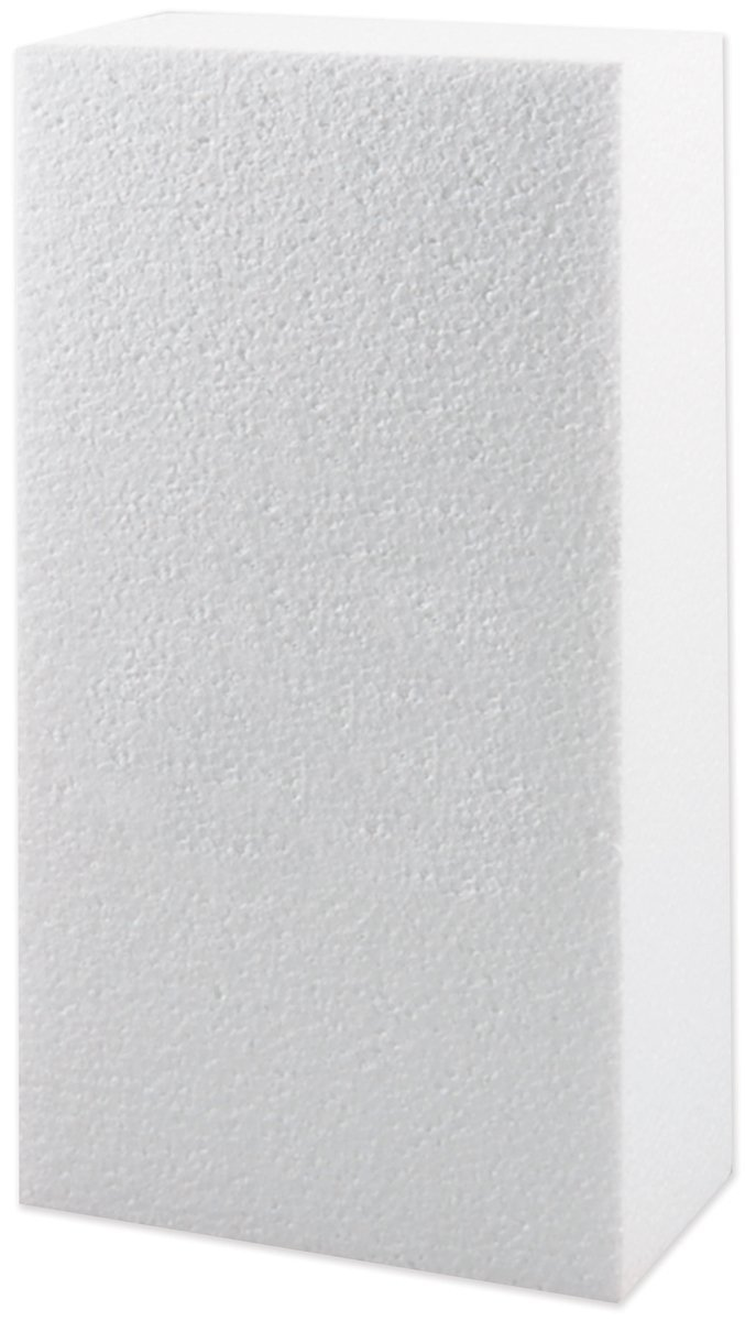 Hygloss Products White Styrofoam Blocks - for Projects, Arts, & Crafts, 4 by 12 by 1-Inch, Pack of 6