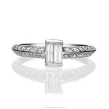 18K White Gold Illusion Solitaire Diamond Ring With Natural Diamonds 0.48 Carat
