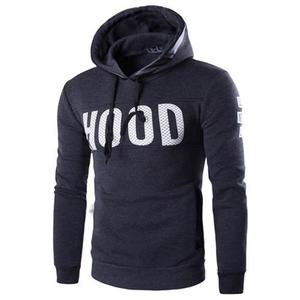 Wholesale polyester long sleeve cotton hoodies Pullover mens hoodies