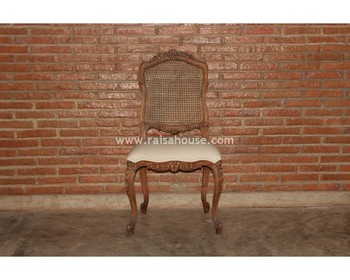 Mahogany Antique Furniture - Canned L LV Chair Rattan Jepara Furniture
