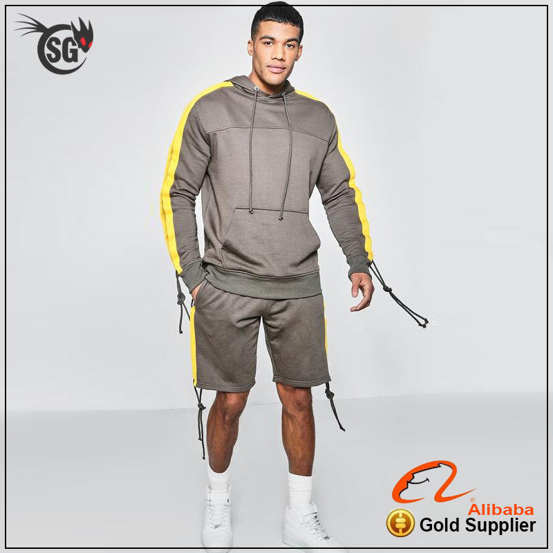 unbranded tracksuit with shorts fully blank tracksuit wholesale at cheap price fleece tracksuit