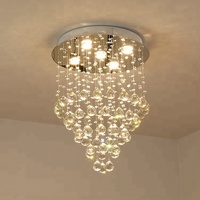 Hanging New Design Warm White Crystal Chandelier Luxury From Zhongshan