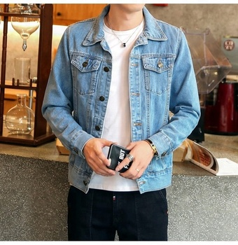 high quality washed custom embroidered wholesale premium denim jacket jean jacket 100% cotton 13 Ounce