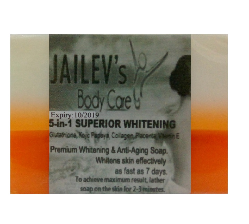 Jailev's 5-in-1 Superior Whitening Soap